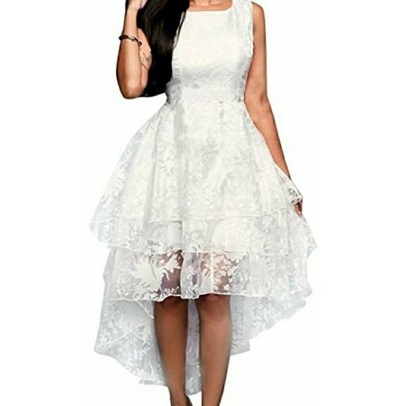 White high low Plus size wedding dress NWT